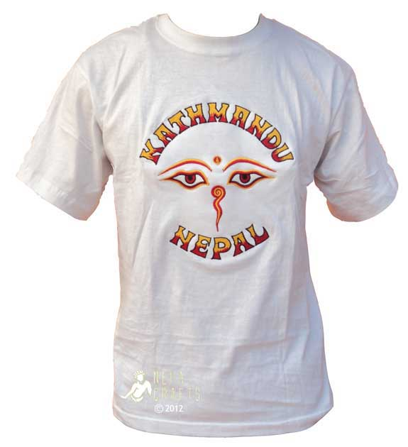 Embroidery cotton kathmandu nepal t shirt ebay
